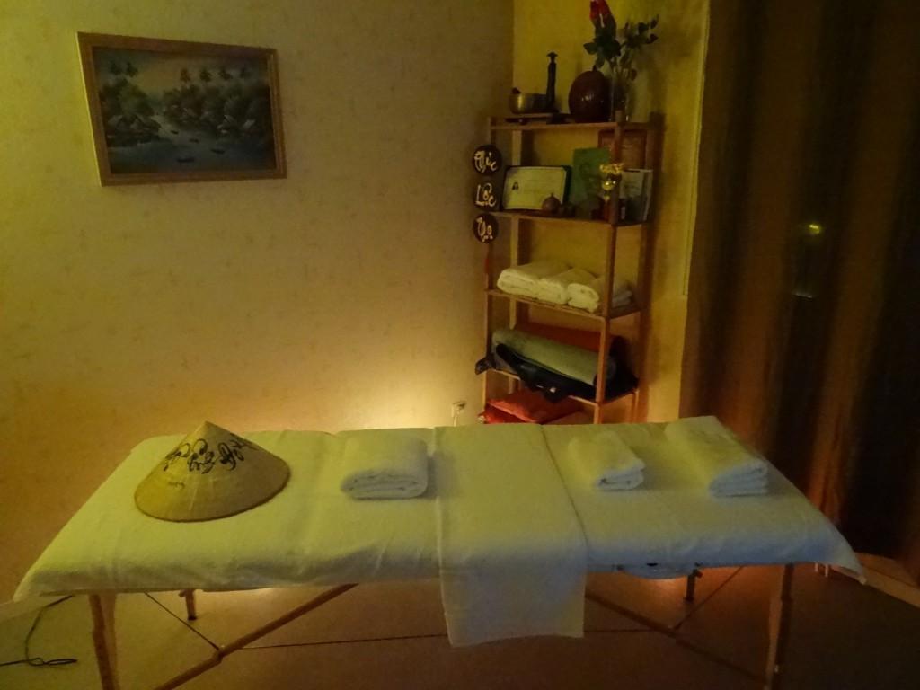 table de massage bien être